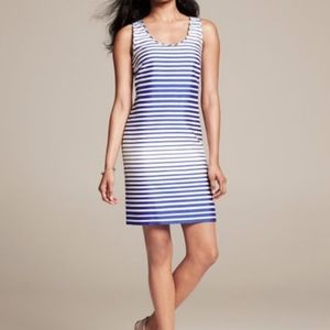 Banana Republic Striped Racerback Shift Dress 12